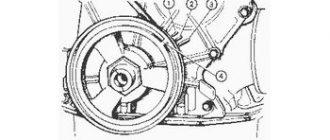 Метки ГРМ схематический рисунок